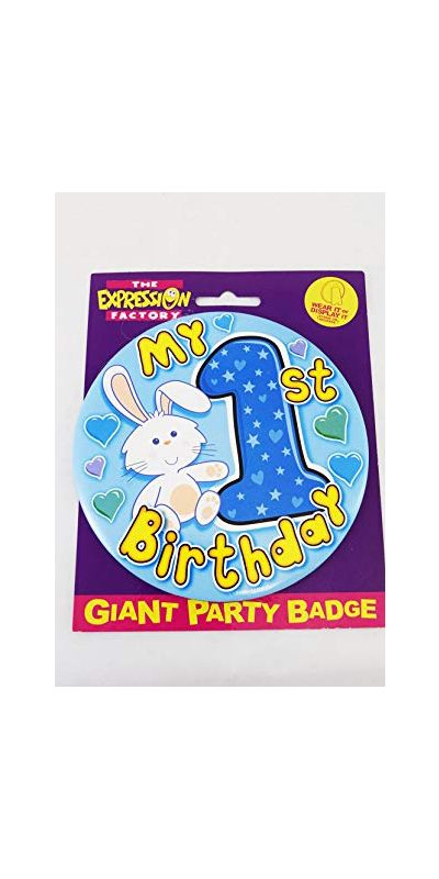 Giant Birthday Badge Blue Age 1