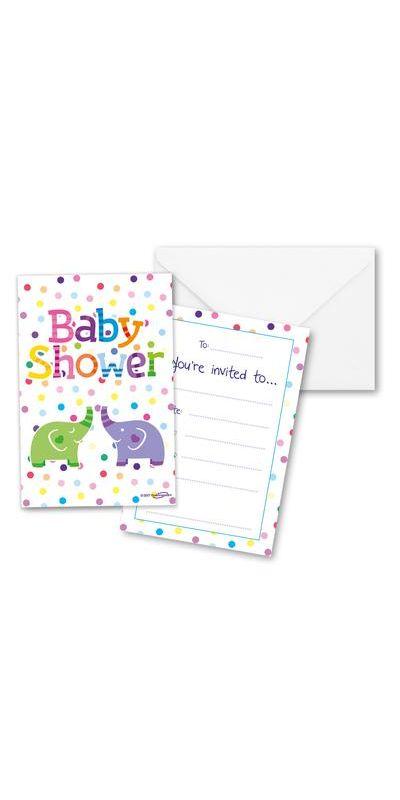 Baby Shower Elephant Invites