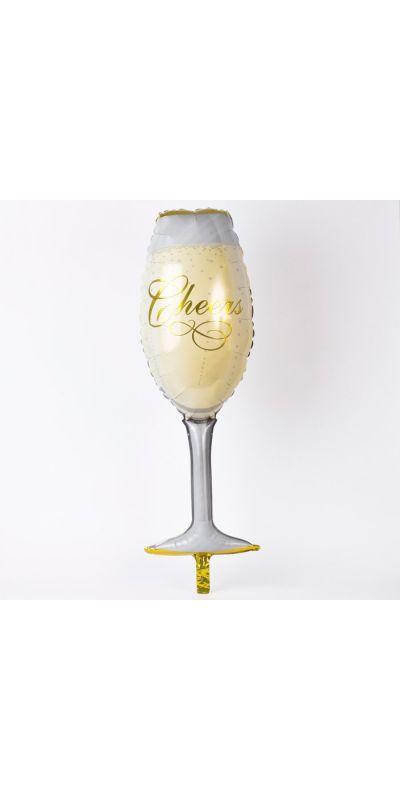 Champagne Glass Cheers Supershape Balloon