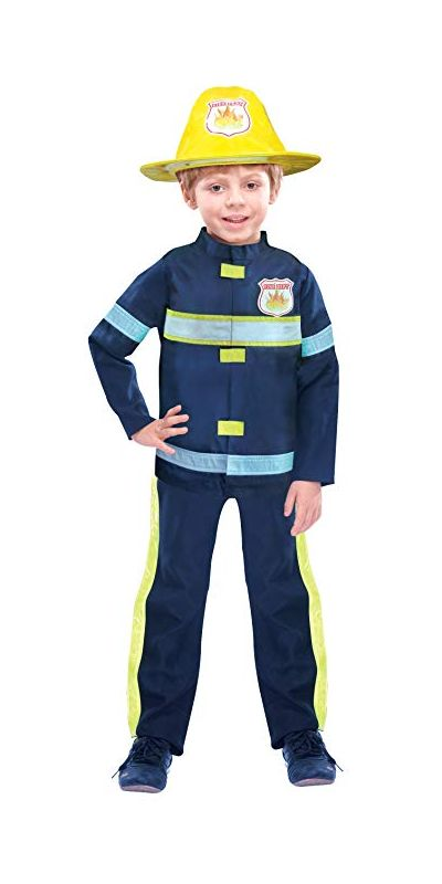 Fireman Costume Boys Medium