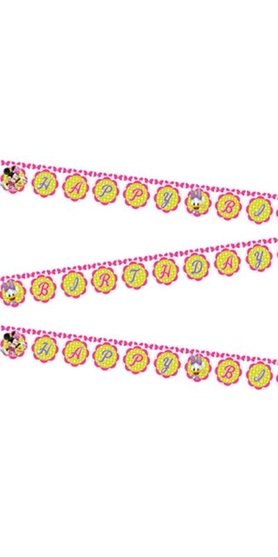 Minnie Mouse Bow Tique Flag Banner Happy Birthday 2.2 m