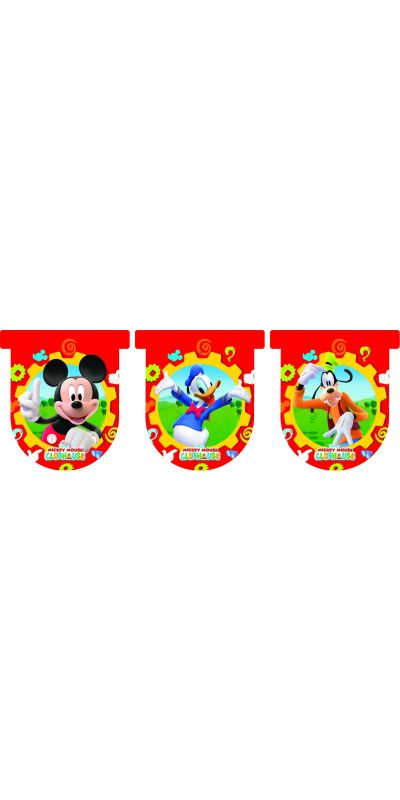 Mickey Mouse Clubhouse Flag Banner 3m Long