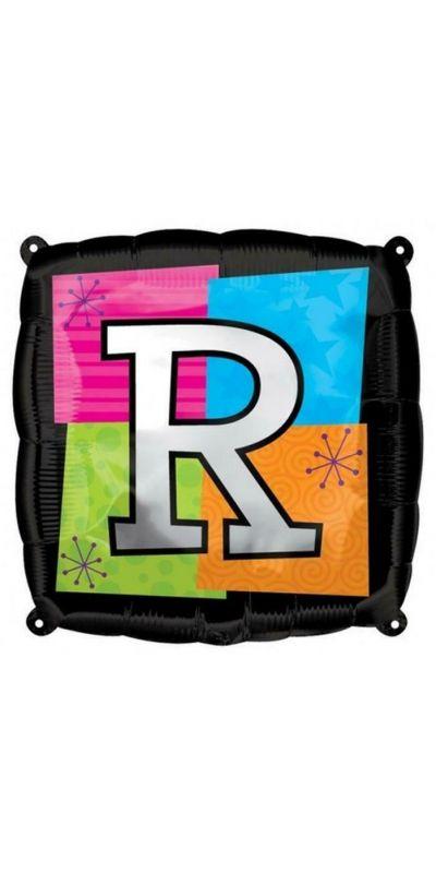 Square Letter R foil balloon 18 inch