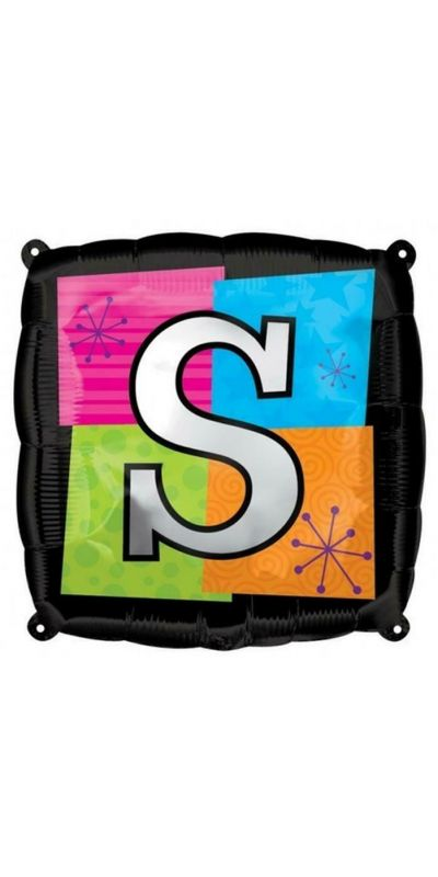Square Letter S foil balloon 18 inch