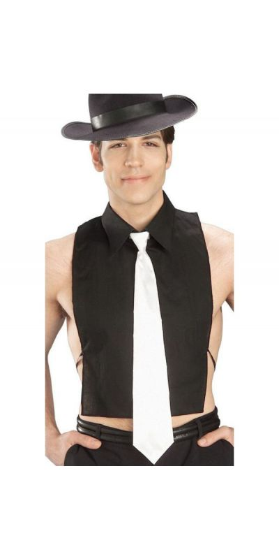 1920's Gangster Shirt Front With Tie