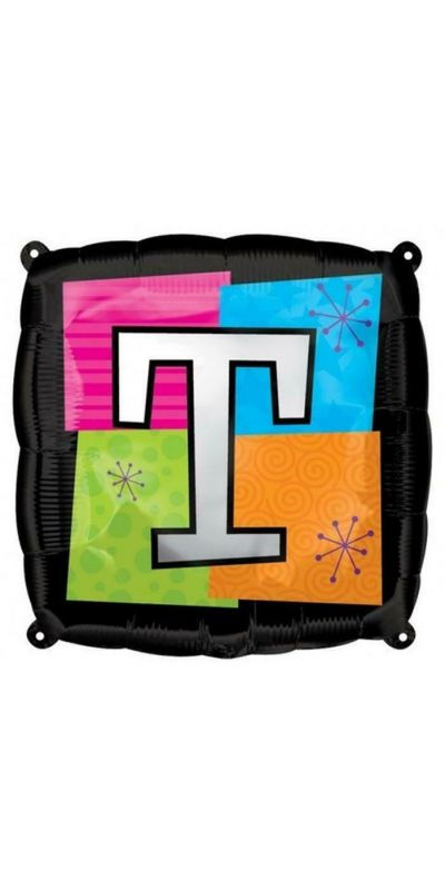 Square Letter T foil balloon 18 inch