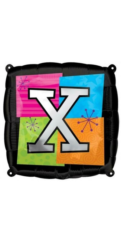 Square Letter X foil balloon 18 inch