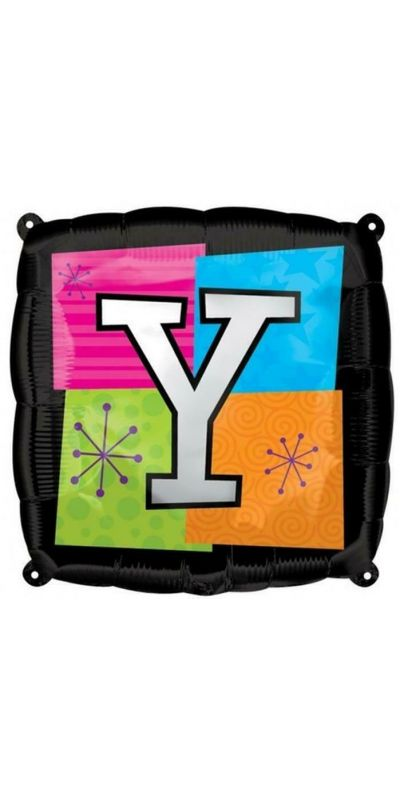 Square Letter Y foil balloon 18 inch