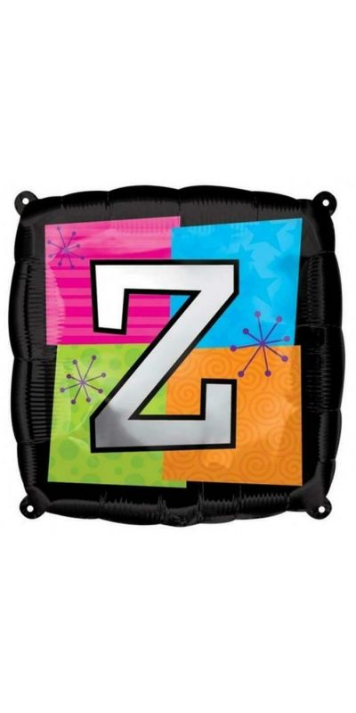 Square Letter Z foil balloon 18 inch