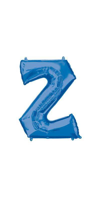 Blue Letter Z Supershape foil balloon 33 inch