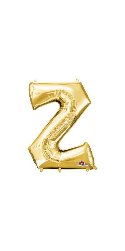 Gold Letter Z Supershape foil balloon  33 inch