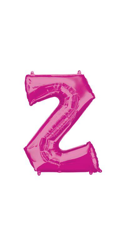 Pink Letter Z Supershape foil balloon 33 inch