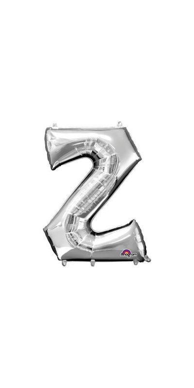 Silver Letter Z Supershape foil balloon 33 inch