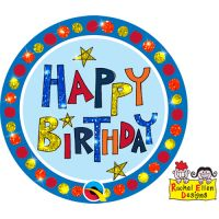 Large Birthday Badge Glitter Happy Birthday